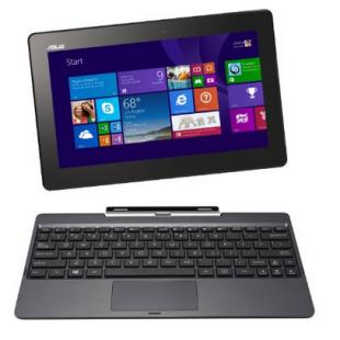 "ASUS Transformer Book T100TA-H2-GR 10.1"" Detachable 2-in-1 Touchscreen Laptop, 64GB + 500GB"